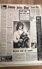 JIMMY McCULLOCH 'joins Blue' 1973   UK ARTICLE / clipping