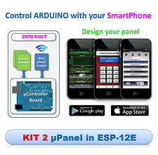 KIT2 - µPanel Controllo Remoto Arduino con APP Android iOS ESP8266 WiFi miuPanel