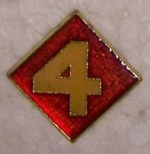 Hat Lapel Push Tie Tac Pin USMC 4th Division NEW