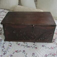 Vintage Wooden Radio Music Cabinet Box with Lid & Inlayed Star