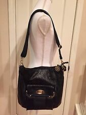 *NWOT* ~ Anne Klein Shoulder Tote Bag Purse Black Faux Crocodile