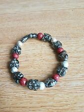 hand-made bracelet -cat face/stardust beads - girls/ladies