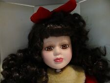 """The Jo-Ann Collection """"Laura"""" Genuine Porcelain 17"""" Doll Year 2000 Christmas Ed."""