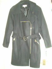MICHAEL KORS  UK 26 EU 54  BLACK COAT TRENCH  RRP £ 290.00