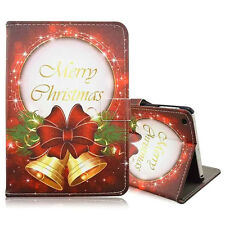 Christmas The Jingle Bells Leather Smart Magnetic Case Cover for iPad 2 3 4 C1