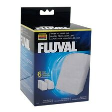 6-PACK FLUVAL 304 305 306 404 405 406  WATER POLISHING PAD FILTER MEDIA