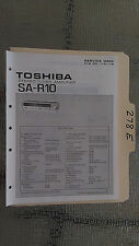 Toshiba sa-r10 service manual original repair book stereo receiver tuner radio