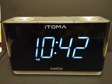 iTOMA Clock Radio with Night Light, Dual Alarm, USB Charging, Auxiliary Inp