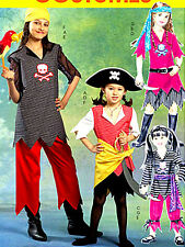 Reduced!McCall 5495 Girls' Unisex Pirate Tops Skirts Pants Costume Pattern 7-14