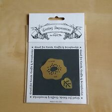 Lasting Impressions Brass Stencil - Flower with Leaf
