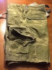 Rare Abercrombie & Fitch Drawstring camo cargo shorts size 28 NWT