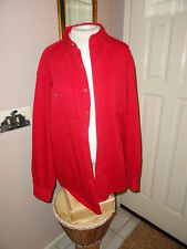 Gap Men's Red Cotton Shirt w/chest pockets & front buttons. Size Large.