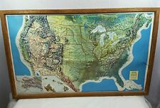 Randall McNally Geophysical Wood Framed Map of the United States