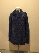 Anthropologie Bird On A Wire Blue Cable Wrap Sweater Size Small