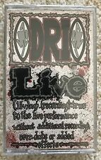 D.R.I. - LIVE - CASSETTE TAPE ORIGINAL STILL SEALED - DIRTY ROTTEN IMBECILES DRI