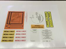 Data East Shop Out Decals Stickers for Pinball Machine restoration repair