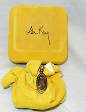 Vintage Ann King 18K Solid Gold and Sterling Silver Pendant