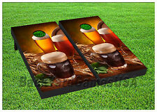 VINYL WRAPS Cornhole Boards DECALS Beer Heaven BagToss Game Stickers 331