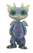 Mythical Green and Blue Standing Baby Dragon Fantasy Figurine