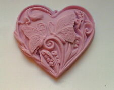 HEART FLORAL BUTTERFLY SILICONE MOULD SUGARCRAFT POLYMER CLAY RESIN MOLD FIMO