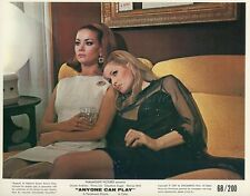 URSULA ANDRESS CLAUDINE AUGER ANYONE CAN PLAY 1968 VINTAGE LOBBY CARD ORIGINAL
