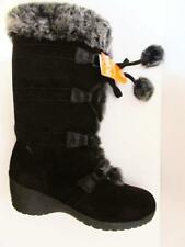 SPORTO~Meagan~Waterproof Suede Lace-Up Boots w/ Pom Poms~CHOCOLATE BROWN~10M~NEW