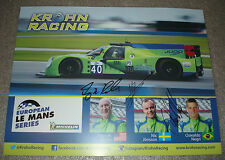 Le Mans FIA WEC ELMS 2015 Krohn Racing Oak Ligier JSP2 4TH Place LMP2 Signed