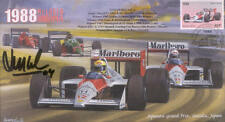 1988a McLAREN-HONDA MP4/4s, BENETTON-COSWORTH  F1 Cover signed LUIS PEREZ SALAS