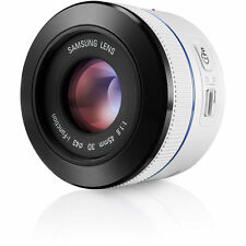 Samsung NX 45mm F1.8 2D/3D Camera Lens i-Function (WHITE)