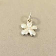 .925 Sterling Silver TINY FLOWER Charm NEW Pendant Forget Me Not Garden 925 GA72