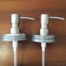 Mason Jar DIY Soap Dispenser Pump Kit Lid Hand Dish Cans Liquid Lotion Regular