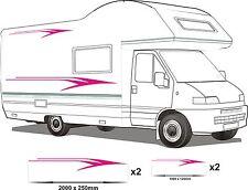 CAMPER VAN MOTORHOME VINYL GRAPHICS STICKERS DECALS SET RV CARAVAN HORSEBOX set5