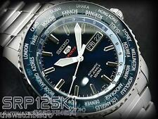 Seiko 5 Automatic World Time Men's Sports Watch SRP125 SRP125K1