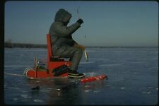 151026 Ice fisherman With Perch A4 Photo Print