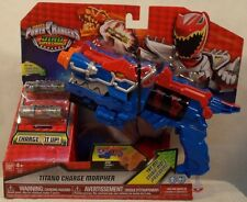 Power Rangers Dino SuperCharge - Titano Super Charge Morpher Blue And Red (MISP)