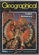 the geographical magazine-SEPT 1982-LATIN AMERICA.
