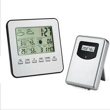 Wireless Indoor Outdoor Digital LCD Thermometer Hygrometer Clock Temperature
