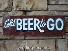 Cold Beer to Go Tin Metal Man Cave Bottle Moonshine Budweiser Coors Guinness