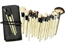 Beau-Make Natural White Goat Professional 23 Piece Long Makeup Brush Wrap Set