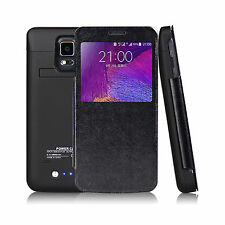 4800mAh Slim Battery Case for Samsung Galaxy Note 4 Black Extended Battery Case
