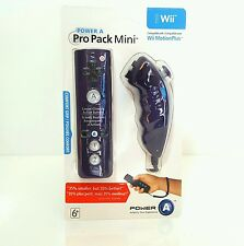 PURPLE PowerA Pro Pack Mini Remote Control Nunchuk For Nintendo Wii nunchuck-NEW