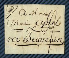 -== Lettre de SETTE pour BEAUCAIRE (Etats du Languedoc) -1788 ==-