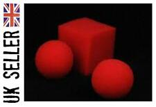 Sponge ball to square/cube. close up magic trick (very easy to do)