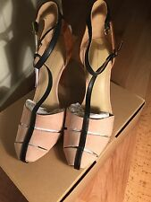 ZARA BLACK BEIGE SANDALS/SHOES