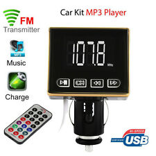 Bluetooth MP3 Player FM Transmitter Modulator Car Kit USB SD TF MMC LCD Remote