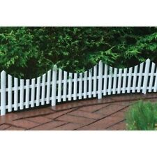 "Emsco 36' Picket Fence - Interlocking, 24"" X 13"" Sections, 18 Pcs-White- 2140HD"