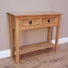 corona 2 drawer console table mexican solid pine hallway by mercers furniture