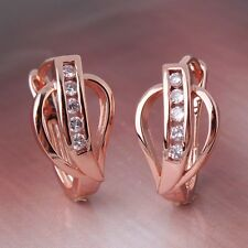 HOT SALE COOL 18k rose gold filled white sapphire wedding Hoop earring