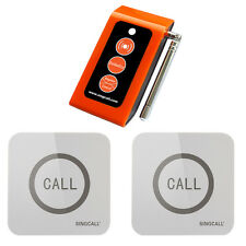 SINGCALL Wireless Caregiver 2 Touchable Nurse Calling Buttons,1 Caregiver Pager