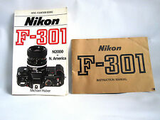 ORIGINAL INSTRUCTIONS PLUS HOVE-FOUNTAIN BOOK FOR NIKON F-301